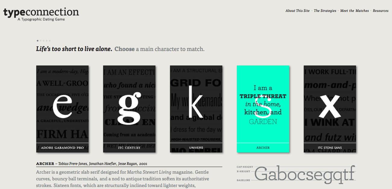 Juegos online tipografía